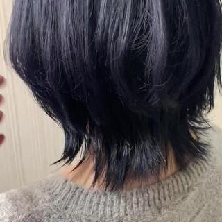アンニュイほつれヘア アッシュ ウルフカット グレージュ ヘアスタイルや髪型の写真・画像