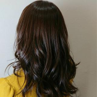 エレガント セミロング 上品 モーブ ヘアスタイルや髪型の写真・画像