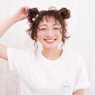 袴 ミディアム ガーリー デート ヘアスタイルや髪型の写真・画像