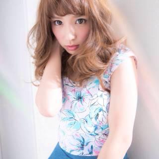 ゆるふわ モテ髪 コンサバ フェミニン ヘアスタイルや髪型の写真・画像