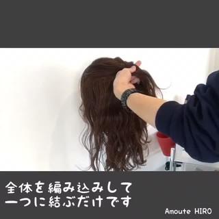 ショート 簡単ヘアアレンジ ポニーテール ルーズ ヘアスタイルや髪型の写真・画像