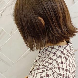 髪質改善カラー バレイヤージュ アンニュイほつれヘア 切りっぱなしボブ ヘアスタイルや髪型の写真・画像