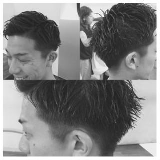 ストリート ウェットヘア 坊主 メンズ ヘアスタイルや髪型の写真・画像