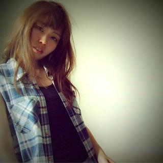 パーマ 外国人風 ロング ハイライト ヘアスタイルや髪型の写真・画像