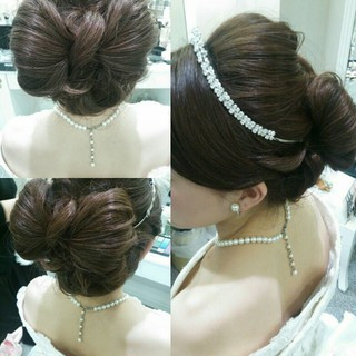 ゆるふわ 大人かわいい ヘアアレンジ 結婚式 ヘアスタイルや髪型の写真・画像