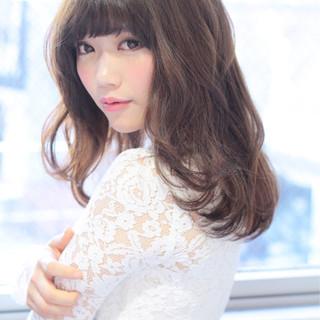 大人かわいい フェミニン ガーリー アッシュ ヘアスタイルや髪型の写真・画像