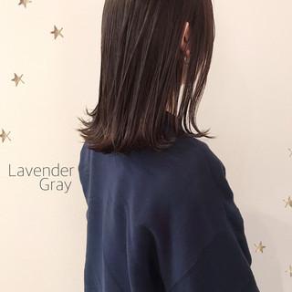 ストレート ハイライト 大人ハイライト セミロング ヘアスタイルや髪型の写真・画像