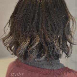 ボブ 大人かわいい ナチュラル ハイライト ヘアスタイルや髪型の写真・画像 ヘアスタイルや髪型の写真・画像