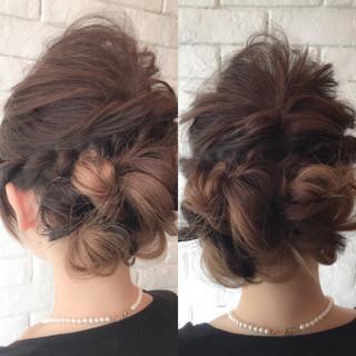 結婚式 簡単ヘアアレンジ ヘアアレンジ ショート ヘアスタイルや髪型の写真・画像