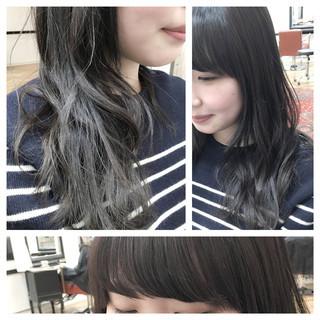 暗髪 ナチュラル グラデーションカラー ベージュ ヘアスタイルや髪型の写真・画像