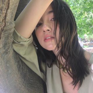 ミディアム 大人女子 フェミニン ナチュラル ヘアスタイルや髪型の写真・画像