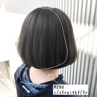 ナチュラル 髪質改善 ストレート グレージュ ヘアスタイルや髪型の写真・画像