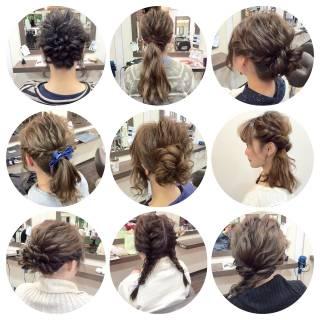 コンサバ ルーズ 編み込み 簡単ヘアアレンジ ヘアスタイルや髪型の写真・画像