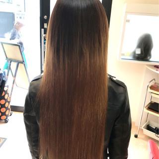 グラデーションカラー ハイトーン 外国人風 ロング ヘアスタイルや髪型の写真・画像