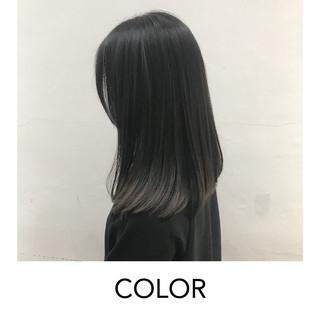 グラデーション ナチュラル 原宿 裾カラー ヘアスタイルや髪型の写真・画像