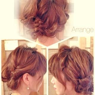 ヘアアレンジ ゆるふわ ナチュラル 三つ編み ヘアスタイルや髪型の写真・画像