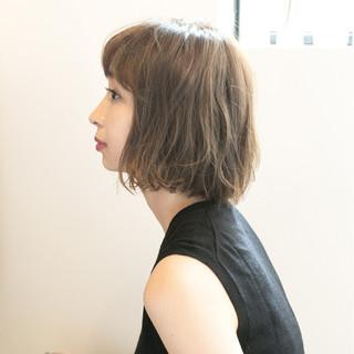 透明感 外国人風 ボブ ナチュラル ヘアスタイルや髪型の写真・画像