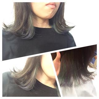 外ハネ ボブ 3Dカラー 黒髪 ヘアスタイルや髪型の写真・画像