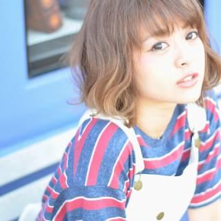 ストリート ガーリー フェミニン ショート ヘアスタイルや髪型の写真・画像