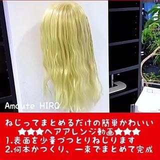 セミロング 簡単ヘアアレンジ ショート エレガント ヘアスタイルや髪型の写真・画像