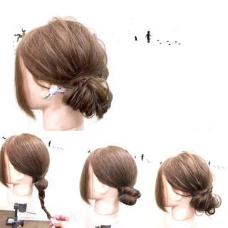 ショート 簡単ヘアアレンジ ヘアアレンジ フェミニン ヘアスタイルや髪型の写真・画像