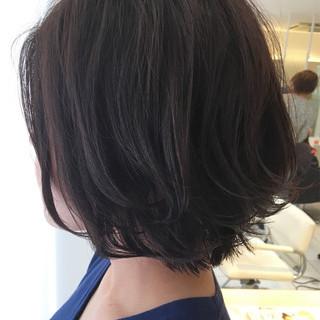 暗髪 ゆるふわ 女子会 パーマ ヘアスタイルや髪型の写真・画像