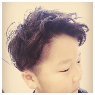 パーマ 子供 ショート ストリート ヘアスタイルや髪型の写真・画像 ヘアスタイルや髪型の写真・画像