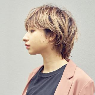 ウルフカット ショートボブ ショートヘア ショート ヘアスタイルや髪型の写真・画像