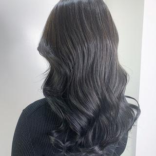 暗髪 3Dハイライト 艶髪 透明感カラー ヘアスタイルや髪型の写真・画像