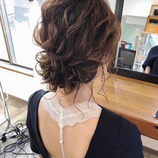 ヘアアレンジ ゆるナチュラル フェミニン 大人かわいい ヘアスタイルや髪型の写真・画像