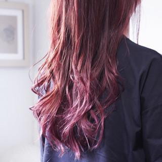 ナチュラル グラデーションカラー モーブ ラベンダーピンク ヘアスタイルや髪型の写真・画像
