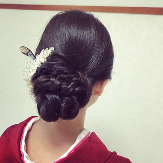 結婚式 上品 エレガント デート ヘアスタイルや髪型の写真・画像