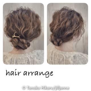 ヘアアレンジ ゆるふわ コンサバ 簡単ヘアアレンジ ヘアスタイルや髪型の写真・画像