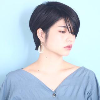 ショート ショートボブ ショートヘア モード ヘアスタイルや髪型の写真・画像