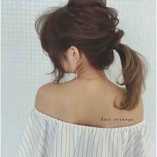 ヘアアレンジ ロング ショート ポニーテール ヘアスタイルや髪型の写真・画像 ヘアスタイルや髪型の写真・画像