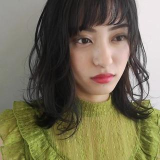 大人女子 黒髪 レイヤーカット エレガント ヘアスタイルや髪型の写真・画像