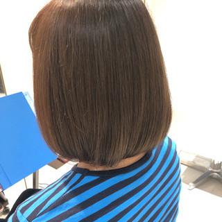 艶カラー ボブヘアー ナチュラル ボブ ヘアスタイルや髪型の写真・画像