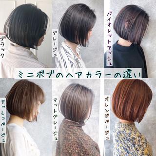 縮毛矯正 ボブ 銀座美容室 ミニボブ ヘアスタイルや髪型の写真・画像 ヘアスタイルや髪型の写真・画像