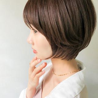 大人かわいい アンニュイほつれヘア ショートボブ モテボブ ヘアスタイルや髪型の写真・画像