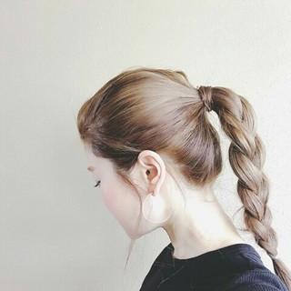 グレージュ 外国人風 ロング 秋 ヘアスタイルや髪型の写真・画像