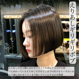 ミニボブ ショートボブ ショートヘア ナチュラル ヘアスタイルや髪型の写真・画像 ヘアスタイルや髪型の写真・画像