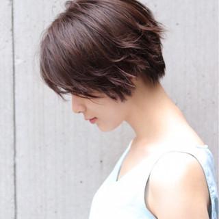 色気 ナチュラル ショート ヘアアレンジ ヘアスタイルや髪型の写真・画像
