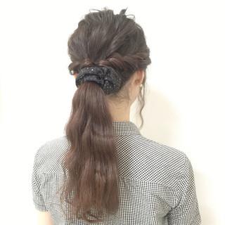 ヘアアレンジ 黒髪 モテ髪 簡単ヘアアレンジ ヘアスタイルや髪型の写真・画像