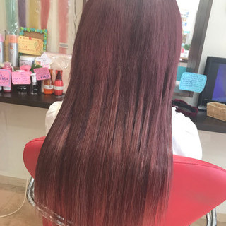 ガーリー グラデーションカラー 秋 ロング ヘアスタイルや髪型の写真・画像