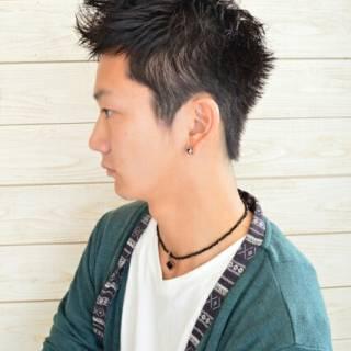 黒髪 ストリート ボーイッシュ 刈り上げ ヘアスタイルや髪型の写真・画像