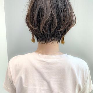 ナチュラル ショートボブ ショート 大人ショート ヘアスタイルや髪型の写真・画像