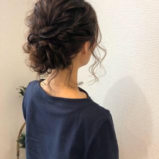 フェミニン アップスタイル ヘアアレンジ ミディアム ヘアスタイルや髪型の写真・画像 ヘアスタイルや髪型の写真・画像