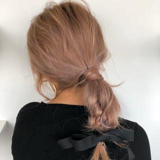 切りっぱなしボブ ロング 地毛風カラー グレージュ ヘアスタイルや髪型の写真・画像
