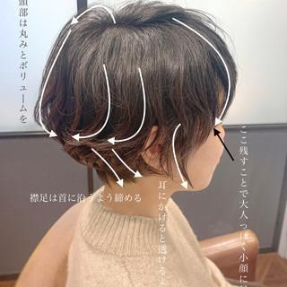 ナチュラル ショートパーマ ゆるふわパーマ ショートヘア ヘアスタイルや髪型の写真・画像