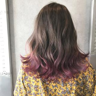 ストリート ミディアム ヘアアレンジ グラデーションカラー ヘアスタイルや髪型の写真・画像